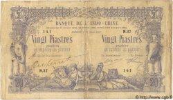 20 Piastres / 20 Piastres INDOCHINE FRANÇAISE  1907 P.028 pr.TTB