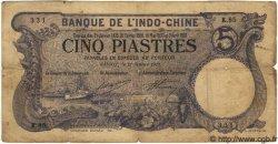 5 Piastres INDOCHINE FRANÇAISE  1915 P.032b TB