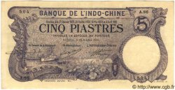 5 Piastres INDOCHINE FRANÇAISE  1915 P.032b SUP