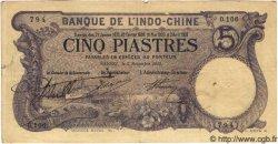 5 Piastres INDOCHINE FRANÇAISE  1915 P.032b TTB