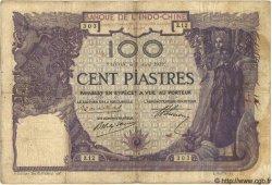 100 Piastres INDOCHINE FRANÇAISE  1919 P.034 TB