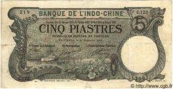 5 Piastres INDOCHINE FRANÇAISE  1915 P.035b TB à TTB