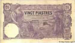 20 Piastres INDOCHINE FRANÇAISE  1920 P.039 TTB