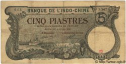 5 Piastres INDOCHINE FRANÇAISE Haïphong 1920 P.019 TB à TTB