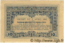 10 Cents INDOCHINE FRANÇAISE  1922 P.043 SUP