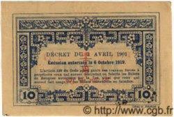10 Cents INDOCHINE FRANÇAISE  1922 P.044 SUP