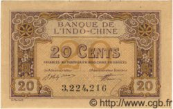 20 Cents INDOCHINE FRANÇAISE  1922 P.045a SPL