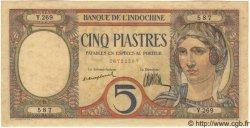 5 Piastres INDOCHINE FRANÇAISE  1926 P.049a