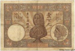 100 Piastres INDOCHINE FRANÇAISE  1926 P.051a TB+