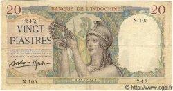 20 Piastres INDOCHINE FRANÇAISE  1939 P.056b pr.TTB