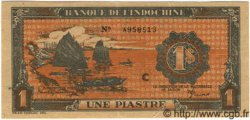 1 Piastre orange INDOCHINE FRANÇAISE  1945 P.058c SUP