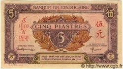 5 Piastres rose, violet INDOCHINE FRANÇAISE  1945 P.064 pr.NEUF