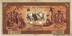 100 Piastres orange INDOCHINE FRANÇAISE  1942 P.066 TB