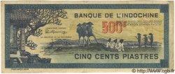 500 Piastres Bleu INDOCHINE FRANÇAISE  1944 P.068 TTB+