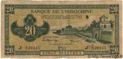 20 Piastres Vert INDOCHINE FRANÇAISE  1944 P.070 TB