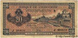 20 Piastres Rose Orangé INDOCHINE FRANÇAISE  1945 P.072 TTB