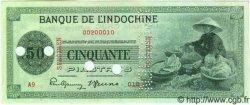 50 Piastres INDOCHINE FRANÇAISE  1945 P.077s SPL