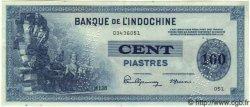 100 Piastres INDOCHINE FRANÇAISE  1945 P.078s SUP