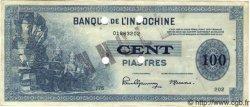 100 Piastres INDOCHINE FRANÇAISE  1945 P.078s pr.SUP