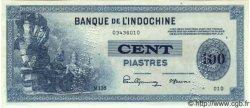 100 Piastres INDOCHINE FRANÇAISE  1945 P.078s SPL
