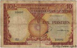 10 Piastres / 10 Riels INDOCHINE FRANÇAISE  1953 P.096a pr.TB