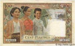 100 Piastres / 100 Riels INDOCHINE FRANÇAISE  1954 P.097 TTB à SUP