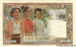 100 Piastres - 100 Riels INDOCHINE FRANÇAISE  1954 P.097s SPL+