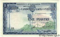 1 Piastre - 1 Kip INDOCHINE FRANÇAISE  1954 P.100s pr.NEUF