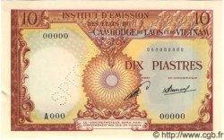 10 Piastres / 10 Kip INDOCHINE FRANÇAISE  1953 P.102s SUP