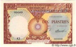 10 Piastres / 10 Kip INDOCHINE FRANÇAISE  1953 P.102s pr.NEUF