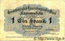 1 Franc / 80 Pfennigs LUXEMBOURG  1914 P.21 TTB