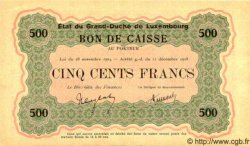 500 Francs LUXEMBOURG  1919 P.32a pr.NEUF