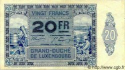 20 Francs LUXEMBOURG  1929 P.37 SUP+