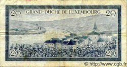 20 Francs LUXEMBOURG  1955 P.49 TB+