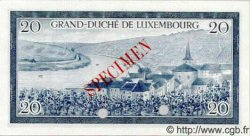 20 Francs LUXEMBOURG  1955 P.49s NEUF