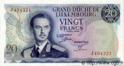 20 Francs  LUXEMBOURG  1966 P.53 NEUF