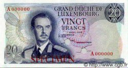20 Francs LUXEMBOURG  1966 P.53s NEUF