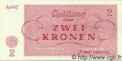 2 Kronen ISRAËL Terezin 1943 WWII. NEUF
