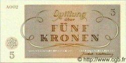 5 Kronen ISRAËL Terezin 1943 WWII. NEUF