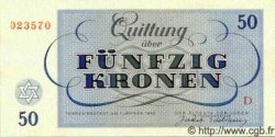 50 Kronen ISRAËL Terezin 1943 WWII. NEUF