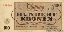 100 Kronen ISRAËL Terezin 1943 WWII. TTB