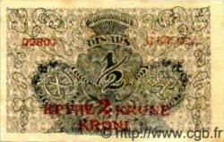 2 Kronen sur 1/2 Dinar YOUGOSLAVIE  1919 P.014a TTB à SUP