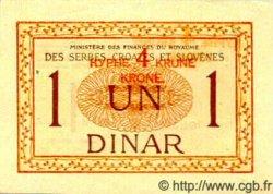 4 Kronen  sur 1 Dinar YOUGOSLAVIE  1919 P.015