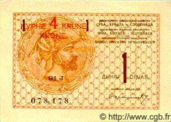 4 Kronen  sur 1 Dinar YOUGOSLAVIE  1919 P.015 SPL