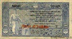 40 Kronen sur 10 Dinara YOUGOSLAVIE  1919 P.017 TB