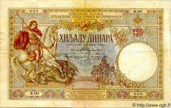 1000 Dinara YOUGOSLAVIE  1920 P.024a TB+