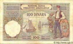 100 Dinara YOUGOSLAVIE  1929 P.027a TTB