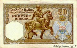 50 Dinara YOUGOSLAVIE  1931 P.028 TTB
