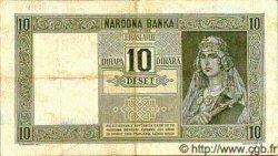 10 Dinara YOUGOSLAVIE  1939 P.035 TTB