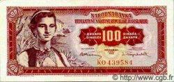 100 Dinara YOUGOSLAVIE  1955 P.069 SPL